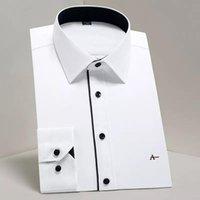 Erkek Elbise Gömlek 2021 Rezerva Aramy Klasik Temel Tasarım Uzun Kollu Resmi Beyaz İş Standart-Fit Dimi Kolay Bakım Erkek Sosyal