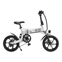 UE Reino Unido Stock Ado A16 Dobrável Bicicleta Elétrica 16 '' Pneu 350W DC Motor 25km / H Max Speed City Bike Mountain Ebike