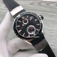 고품질 시계 Maxi Marine Diver 263-10-3R-92 스테인레스 스틸 Autoamtic Mens 시계 블랙 다이얼 고무 스트랩 체계 스포츠 손목 시계