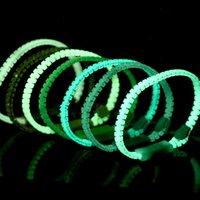 Luminous Glow In The Dark Zipper Bracelet Jewelry Unisex Zip Bangle Night Light Wristband Party Bar Gift Z4460