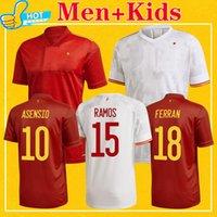 Spagna Soccer Jersey 2021 Camiseta Espana Casa Away Morata Thiago Ramos Asensio Ferran Koke 21 22 Camicia da calcio 4XL Men + Kit Kit