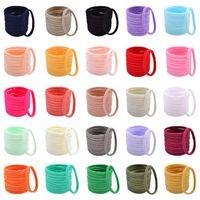 Candy Color Children's Hairbands Rainbow Grils 3.2Inch Hair Circle Fashion Nylon Kids Elastic Hair Band Simple Hair Rope Multicolor Headwear 267 G90A6D7