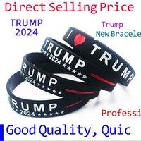 Tiktok 실리콘 팔찌 트럼프 2024 미국 훌륭한 대통령의 손목 밴드 별 줄무늬를 지원 트럼프 손목 밴드 파티 선물 G78EJYS 맞춤형