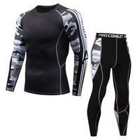 Gym Clothing 2021 Quick Dry Sport Top Pants Men's Running Sets Compression Sports Suits Skinny Tights Clothes Fitness Camo Sportswear