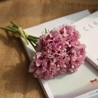 Decorative Flowers & Wreaths Factory Sales Peony Bouquet Plant Simulation Flower Home Decoration Wedding Handmade Holding Fake For Party And