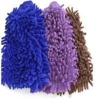 لينة منشفة ستوكات الشنيل غسل قفازات المرجان الصوف أنثوزوان الإسفنج غسل القماش العناية بالسيارات تنظيف ZWL261