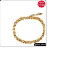 Nuovo semplice Braccialetto di trifoglio di quattro foglie Braccialetto da donna in oro placcato oro Produttore all'ingrosso B4022601