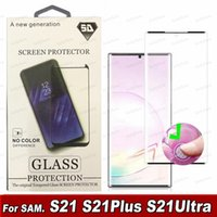 Screen Protector Case Friendly Tempered Glass For Samsung Galaxy S21 S20 S9 Note 20 Ultra 10 S8 Plus Mate 30 Pro 3d Curved Version with retail box