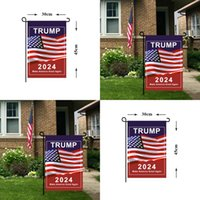 2024 Allgemeine Wahlen Garten Banner Flagge Trump Präsidentschaft US 30 * 45 cm Kampagne für Flaggen Machen Sie Amerika Toll wieder Banner Digitaldruck 3 49CDA Q2