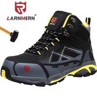 Ларнмерная мужская стальная носящая обувь для защитной обуви Легкая дышащая противодействие противоту прокола антистатические защитные рабочие ботинки 211025