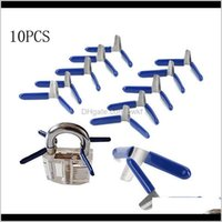 Hooks Rails Storage Housekeeping Organization & Garden Drop Delivery 2021 10Pcs Padlock Shim Picks Pick Aessories Set Lock Home Locksmith Too