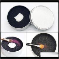 Reinigungswerkzeuge Asores Gesundheit Schönheit Drop Lieferung 2021 Makeup Reiniger Schwammentferner Schnelle Farbe aus Make-up-Bürsten Reinigungsmatte Alumi