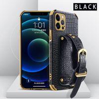 Mode-Luxus-Plattierungs-Fall für COQU-iPhone 12 11 PRO MAX X XR XS Mini 7 8 PLUS SAMSUNG NOTE 20 S20plus Note10 S21 Ultra S10 Cover Girls Leder Stoßdämpfer mit Riemen