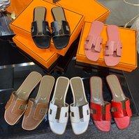 Tasarımcı Lüks Kadın H Sandalet Oasis Sandal Yavru Topuk Terlik Klasik Deri Platformu Moda Casual Ayakkabılar En Kaliteli Kutusu Boyutu 35-42