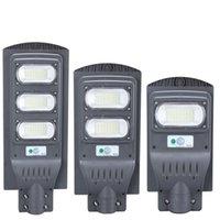 Sollampor LED Street Light 30W 40W 60W 8W0 90W 120W 160W Hög ljusstyrka 5730 LED IP65 Outdoor Solar Flood Light i lager