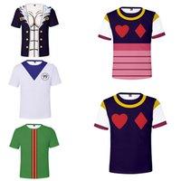 Giappone Anime Hunter X Hunter 3D T Shirt Donna Uomini Gon Freecss Killua Zoldyck Kurapika Hyoka Graphic Tees Hxh Costume Cosplay