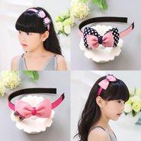 Accessori per capelli Girls Wave Dot Bow Fabband Fashion Semplice carino tessuto fresco antiscivolo regalo di compleanno abbigliamento accessoriJa207