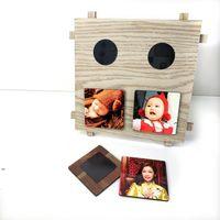 DIY فارغة التسامي اللوح الخشبي لامع الأبيض إطار الصورة لوحة MDF للهدايا مخصصة DWD8943