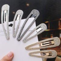 Simple Crystal Hair Clip Silver Gold Barrettes Clips Bobby Pin for Women Fashion Jewelry will and sandy gift