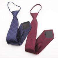 Cravate de fermeture à glissière de costume pour homme 48 * 8cm de polyester de polyester de polyester de polyester de soie haut de gamme à carreaux à carreaux floraux floraux de couleur fleur