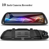 """Car DVR 10"""" Android RearView Mirror 9.66 """"Full Screen 1080P ADAS Dash Cam Camera Video Recorder Auto Registrar Dashcam GPS DVRS"""