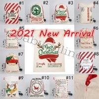 DHL عيد الميلاد سانتا أكياس قماش أكياس القطن كبير الثقيلة الرباط هدية أكياس شخصية مهرجان حزب زخرفة عيد الميلاد