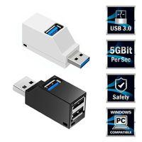 USB 3.0 허브 어댑터 Extender 미니 스플리터 상자 PC 노트북을위한 3 포트 MacBook 휴대 전화 고속 U 디스크 리더