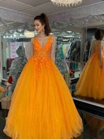 Charming Evening Dress with Lace Appliques Beads Deep V-neck A-line Prom Dresses for Formal Occasions Custom Made