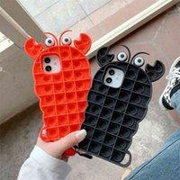 POP FIDGET TOYS Crayfish 패턴 iPhone 12 Promax Case 액세서리 Simple Apple X / 8 Plus 11Pro G317NMG 용 Simple Buddle Phone Shell
