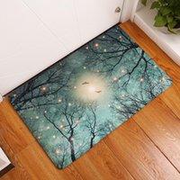 Carpets CAMMITEVER Halloween Moon Night Forests Birds Glowworm Carpet Non-slip Water Absorption Floor Mat Bathroom Kitchen Area Rug