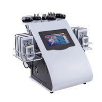 Estoque nos EUA Promoção 6in 1 40K Ultrasonic Cavitação Slimming Machine Vácuo Rádio Frequência Lipo Laser para SPA