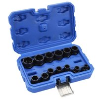 Professional Hand Tool Sets 13pc Damaged Bolts Nuts Screws Remover Extractor Removal Tools Set Threading Kit Black With 8Styles Wrench Acces