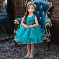 lovely children ball gown princess tutu dress wedding party fashion flower girl dress