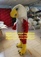 Vermelho White Hawk Falcão Tercel Tiercel Vulture Mascot Traje Bald Eagle Vultures Mascotte Trajes Caráter Cerimônia Cerimônia Família Presentes ZX1664