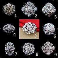 Sparkly Silver Plated Clear Rhinestone Crystal Flower Diamante Brooch Bouquet Party Pins