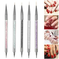 Nail Brushes 5pcs Kit Art Pen Set Double-ended Acrylic Dotting Drawing Painting Brush UV Gel Liner Polish Nails Tools
