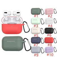 AirPods Pro Case for Apple Airpods Pro Silicone Cover Airpod Case for Apple Air Pods Pro 3 سماعة سماعة الأذن هوك شحن مربع
