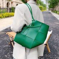 Büyük Kapasiteli Çanta Bayan Yaz 2021 Yeni Moda Tek Omuz Çantası Tasarım Taşınabilir Dokuma Çanta