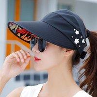 حافة واسعة القبعات الصيف الشمس قبعة مع اللؤلؤ تعديل رؤساء كبيرة واسعة الحماس الشاطئ الأشعة فوق البنفسجية حماية قابلة للحفاظ على قناع 1 قطع ltnshry