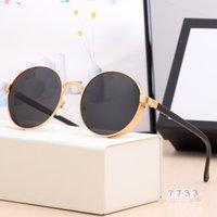 Классические круглые солнцезащитные очки Brand Design UV400 Очки Мужские Женщины Зеркало Роскошные Солнцезащитные очки Disigner Polaroid Стекло