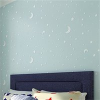 Non-woven Luminous Wallpaper Roll Stars And The Moon Boys And Girls Children's Room Bedroom Ceiling Fluorescent Wallpaper Decor1 977 R2
