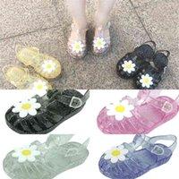 طفلة الصنادل جيلي الصياد أقحوان حفرة أحذية طفل أطفال لطيف الكرتون الأميرة الصنادل زهرة الصيف شاطئ الأحذية H41WYLA