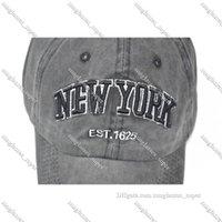 2022 Bireysellik Ozyc Kum Yıkanmış 100% Pamuk Beyzbol Kap Şapka Kadın Erkek Vintage Baba Şapka New-York Nakış Mektubu Açık Spor Kapaklar