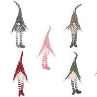 Ed léger arbre de Noël laine gnome pendentifs pendentifs ornements tricoter artisanat cadeau cadeau de Noël de Noël décorations ahe5847