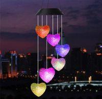Ветер Chime Спиральный цвет Изменение солнечной энергии Спиннер Crystal Ball Мобильный Портативный Водонепроницаемый Открытый Декоративный Романтический Ветер Белл CCF5972