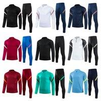 22 Erkek Eşofman Futbol Ceket Spor Giyim SVE ET Eğitim Giyim Kitleri Futbol Gömlek Track Suits Sportwear Kısa Fermuar Üniforma