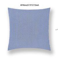 45*45cm Plaid Stripes Pillow case Sofa Waist Cushion Cover Car Decoration Solid Color Thicken Pillowcase Home Bed Supplies HHE10711