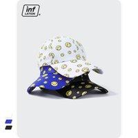 Inf merito di agire il ruolo del logo popolare giallo faccina faccina faccia cappuccio femminile giapponese street interessante contratto skateboard berretto da baseball