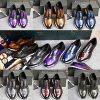 Berluti Erkekler El Yapımı Ayakkabı Deri Sneaker 2021Tops Yüksek Kaliteli erkek Rahat Ayakkabı Ünlü Tasarımcı Lüks Hızlı Parça Scritto Bullock Boyutu: 38-45