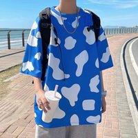 Men's T-Shirts Summer T-shirt Fashion Printing Casual T Shirt Men Streetwear Korean Loose Short-sleeved Tshirt Mens Tops M-5XL